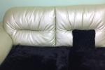 меховая накидка на диван